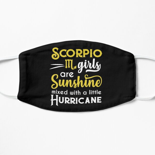 Scorpio Girls Are Sunshine Mixed With A Little Hurricane Zodiac Star Sign Birthday Horoscope Gift Id Mask