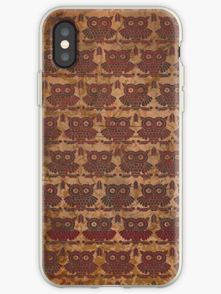 Grunge Retro Pattern Owls iPhone 4  / iPhone 5 Case / Samsung Galaxy Cases  by CroDesign