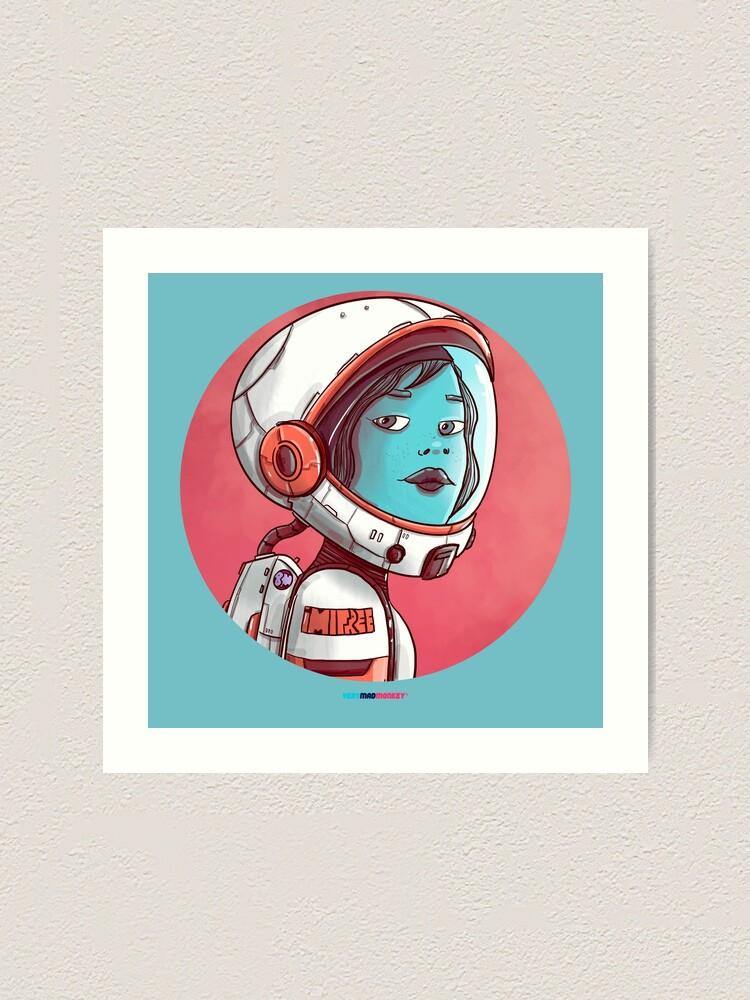 Vista alternativa de Lámina artística Space Girl by Fran Ferriz