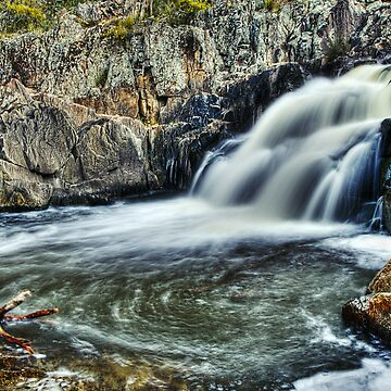 Summer Hill Creek Waterfall Number 2 by johnah
