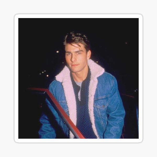Tom Cruise in the 1980s Sticker