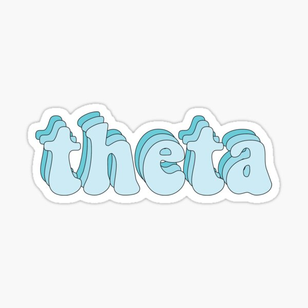 Theta Blue Sticker