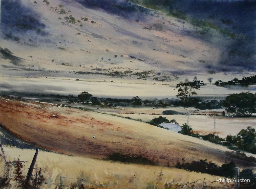 Where Hills meet Plains - Ross Tasmania by Phillip Austen