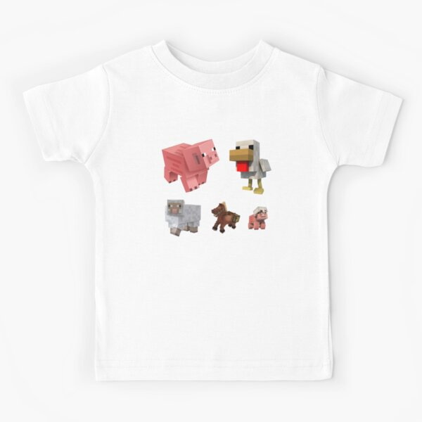 "Sticker collection ""mobs Minecraft"" Kids T-Shirt"