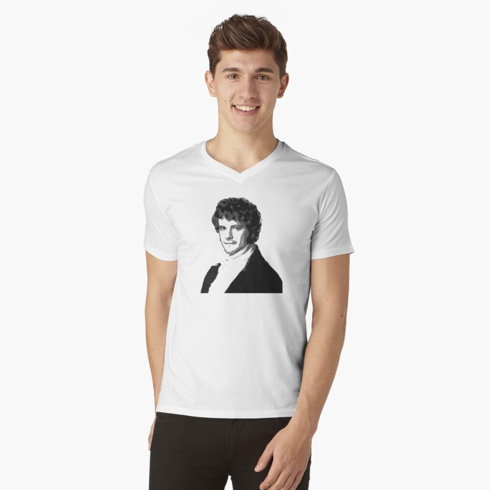 Mr Darcy Mens V-Neck T-Shirt Front