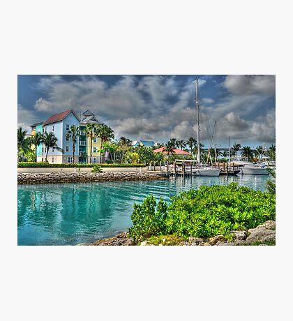 Harbour Village in Paradise Island, Nassau, The Bahamas Photographic Print