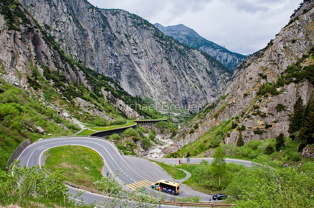 North approach to the Gotthard Pass by Michael Brewer