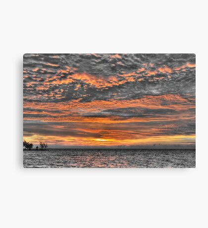 Sky in Fire at Sunrise - Nassau, The Bahamas Canvas Print