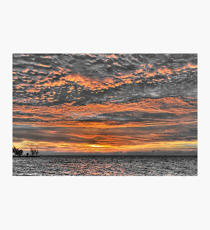 Sky in Fire at Sunrise - Nassau, The Bahamas Photographic Print