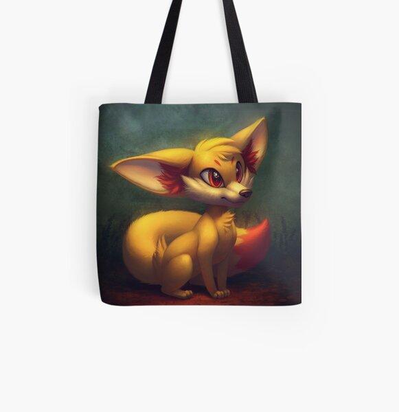Fire Starter Pokemon Fan Art - Fennekin All Over Print Tote Bag