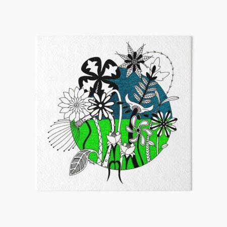 Wild Flowers 2 Art Board Print