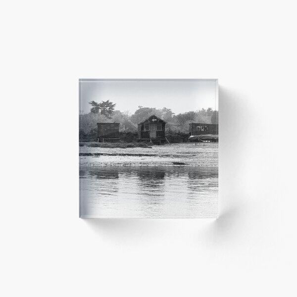 Estuary Huts Acrylic Block