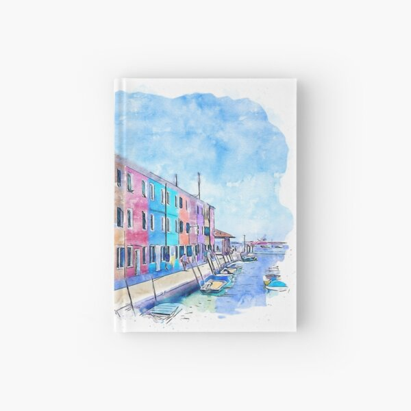 Burano, Italy Hardcover Journal