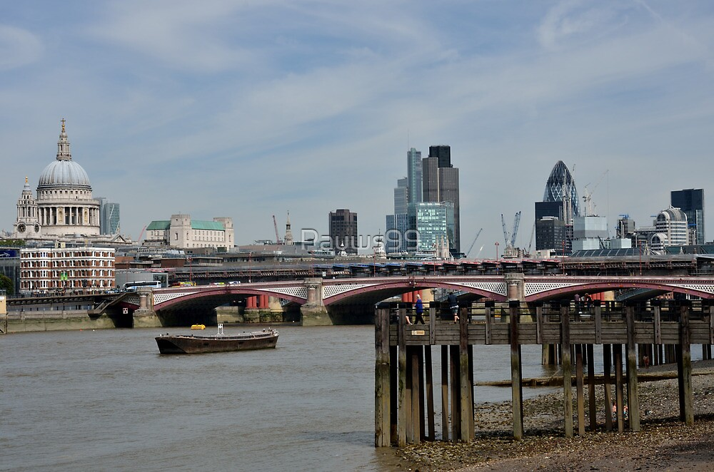 City of London from Thames by Pauws99