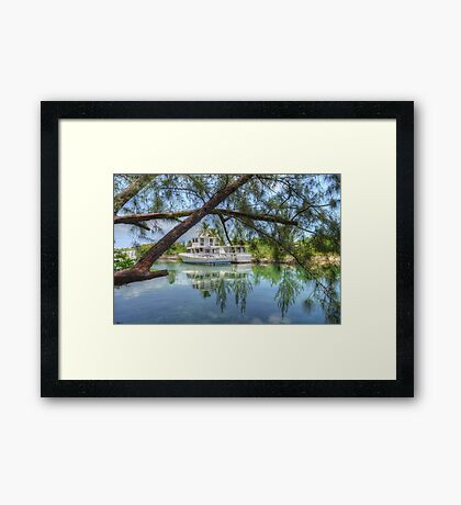 Peaceful River Scenery in Nassau, The Bahamas Framed Print