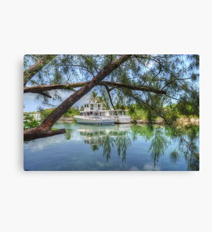 Peaceful River Scenery in Nassau, The Bahamas Canvas Print