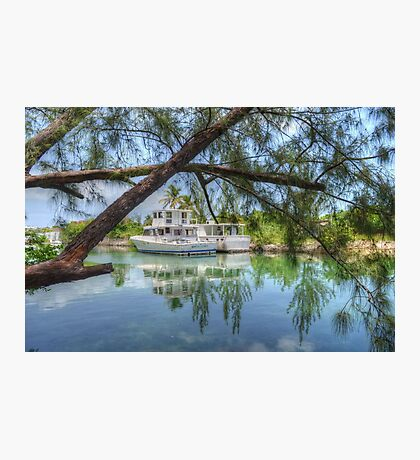 Peaceful River Scenery in Nassau, The Bahamas Photographic Print