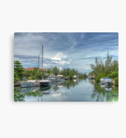Peaceful River Scenery in Coral Harbour - Nassau, The Bahamas Canvas Print