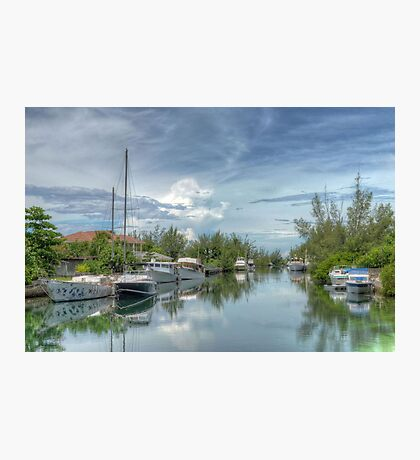 Peaceful River Scenery in Coral Harbour - Nassau, The Bahamas Photographic Print