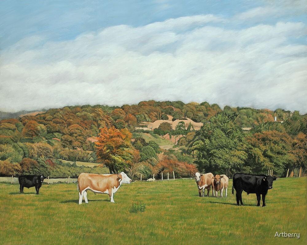Cattle Near Pentyrch by Artberry