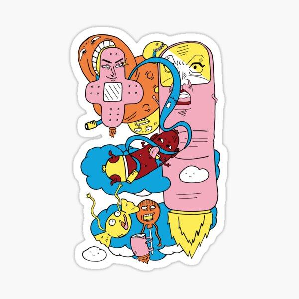 Powered finger Sticker