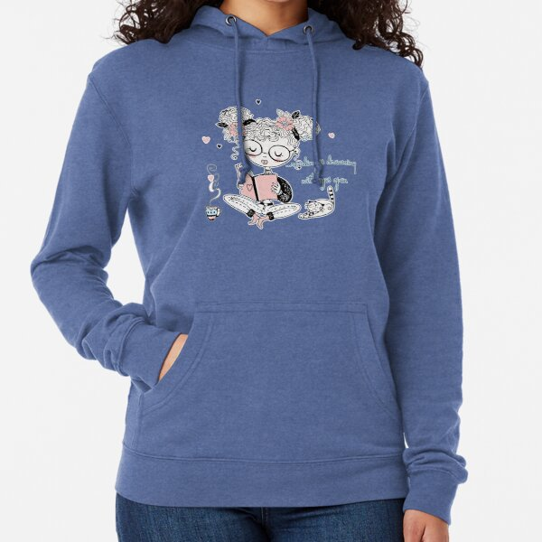 Reading is dreaming with eyes open - brainbubbles Leichter Hoodie