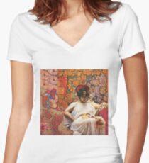 Bitter Regret Women's Fitted V-Neck T-Shirt