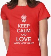 Keep calm and love you you want - Lesbian Women's Fitted T-Shirt