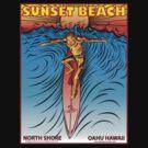 SUNSET BEACH OAHU HAWAII by Larry Butterworth