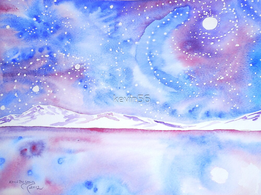 Magic Lake....watercolor  by Kevin Mcgeeney