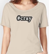 Cray - Hashtag - Black & White Women's Relaxed Fit T-Shirt