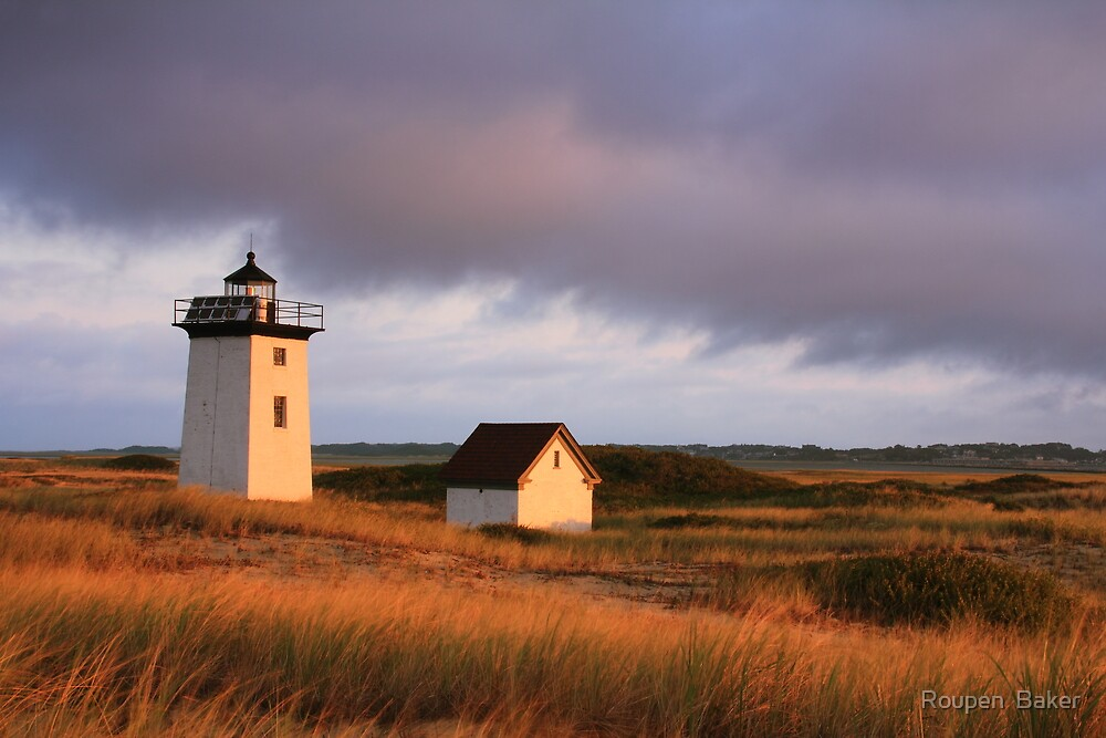 Wood End Lighthouse Landscape by Roupen  Baker