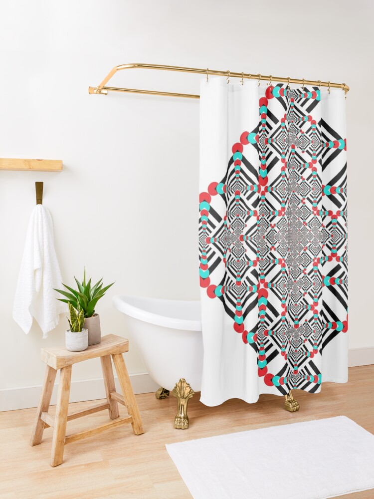 Alternate view of Motif, Visual arts, Psychedelic Shower Curtain