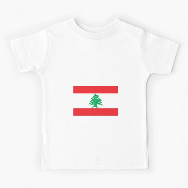 Lebanon Flag Map Baby T-Shirt Kids Cotton T Shirts Comfort Tops for 6M-2T Baby