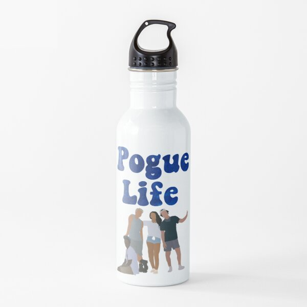 Blue Pogue Life -  Aesthetic Outer Banks Collage Water Bottle