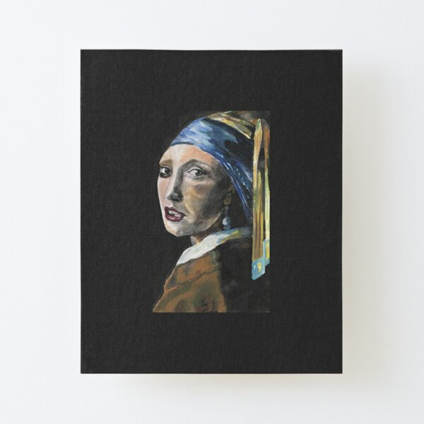 Girl with a Pearl Earring Canvas Mounted Print