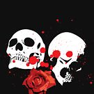 Skulls and rose by curiedi
