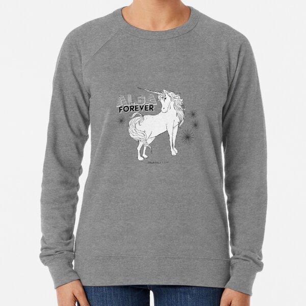 Alba Forever - Original Black+White Lightweight Sweatshirt