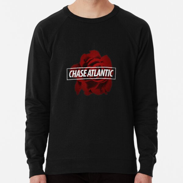 Chase Atlantic Rose Logo Black Lightweight Sweatshirt