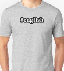 English - Hashtag - Black & White Unisex T-Shirt