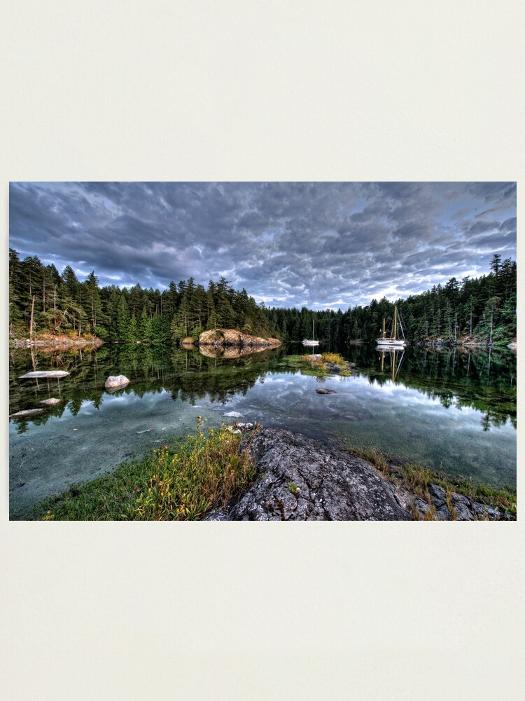 Alternate view of Smuggler Cove, Pender Harbour, BC Photographic Print