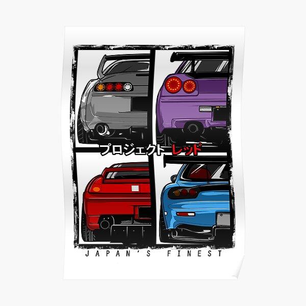 Japans Finest | Supra | R34 | NSX | FD3S RX7 Poster