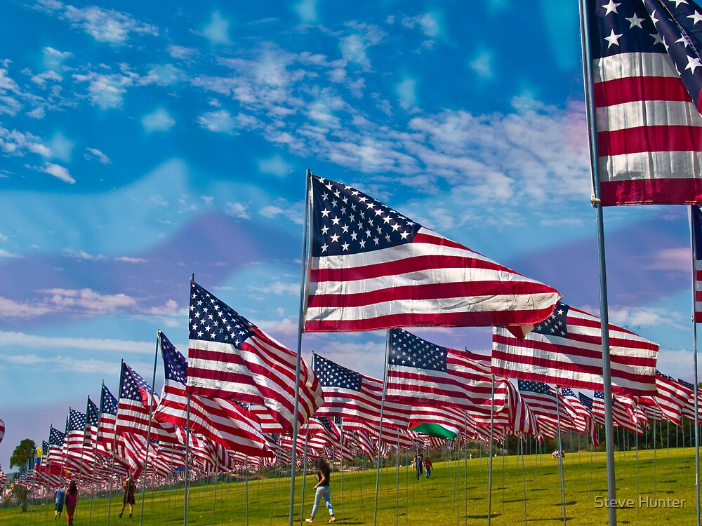 Wave of Flags by Steve Hunter