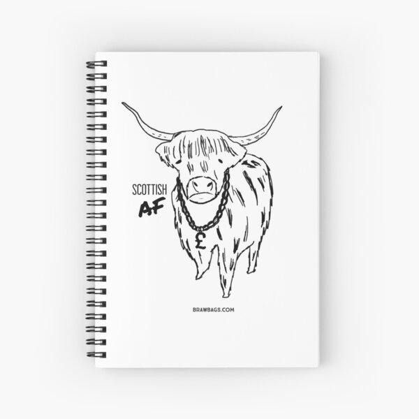 Hip Coo - Original Black+White Spiral Notebook