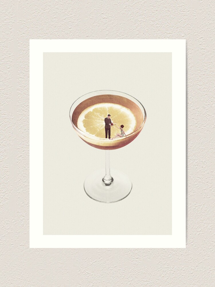 Alternate view of My drink needs a drink Art Print
