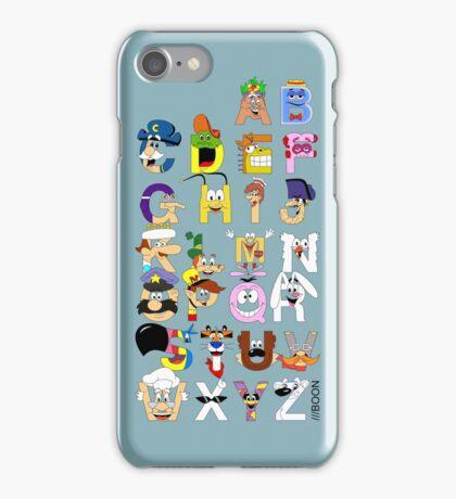 Breakfast Mascot Alphabet iPhone Case/Skin