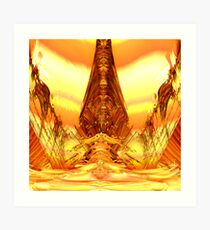 Quetzal Stargate Bridge Art Print