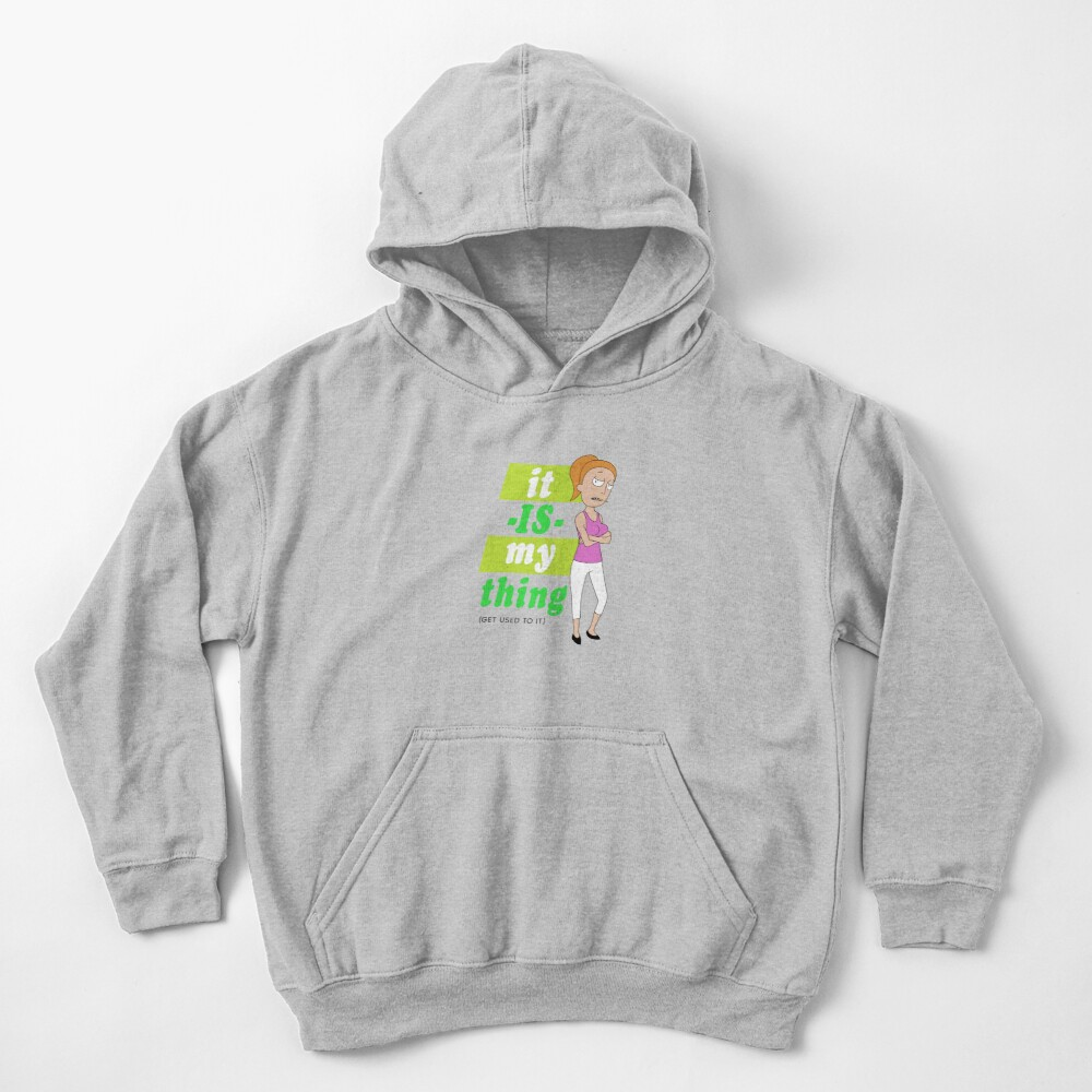 Summer 'it IS my thing' green on light Kids Pullover Hoodie