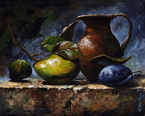 Pear and plum - sl20 by Imre Toth (Emerico)