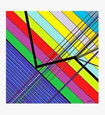 Diagonal Color - Abstract Photographic Print